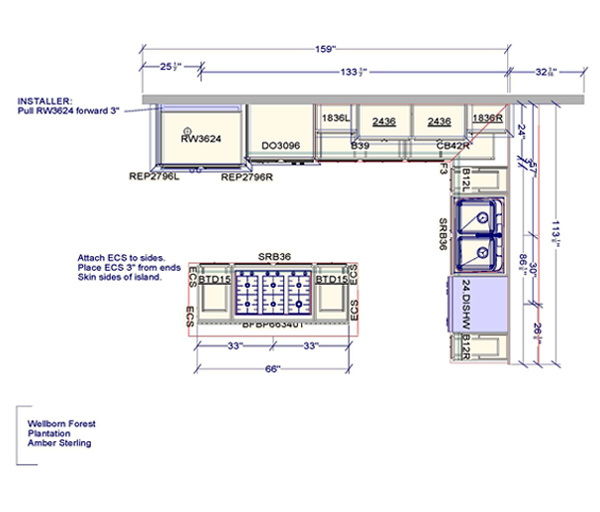 Industrial Kitchen Layout Plan: Freelance Kitchen Plans