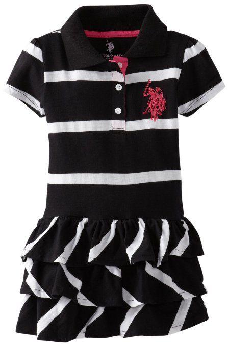 US Polo Assn Little Girls 2 Piece Doll Top Childrens Apparel U.S