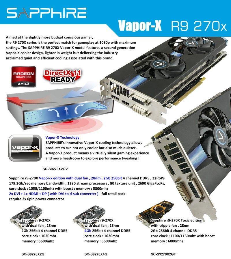 Sapphire Vapor-X R9 270x | Sapphire | Sapphire