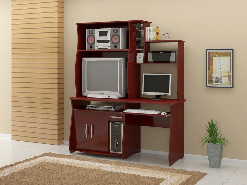 Muebles Para Computadora De Madera.Centro De Entretenimiento Para Tv Y Computadora Para Espacios