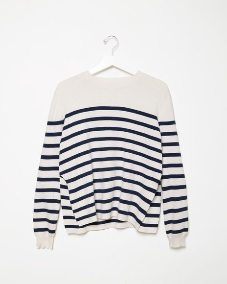 Organic by John Patrick | Striped Cashmere Blend Pullover | La Garçonne