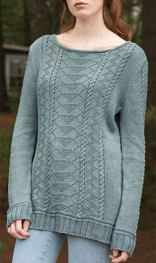 Free Knitting Pattern For Carra Sweater This Gansey Inspired