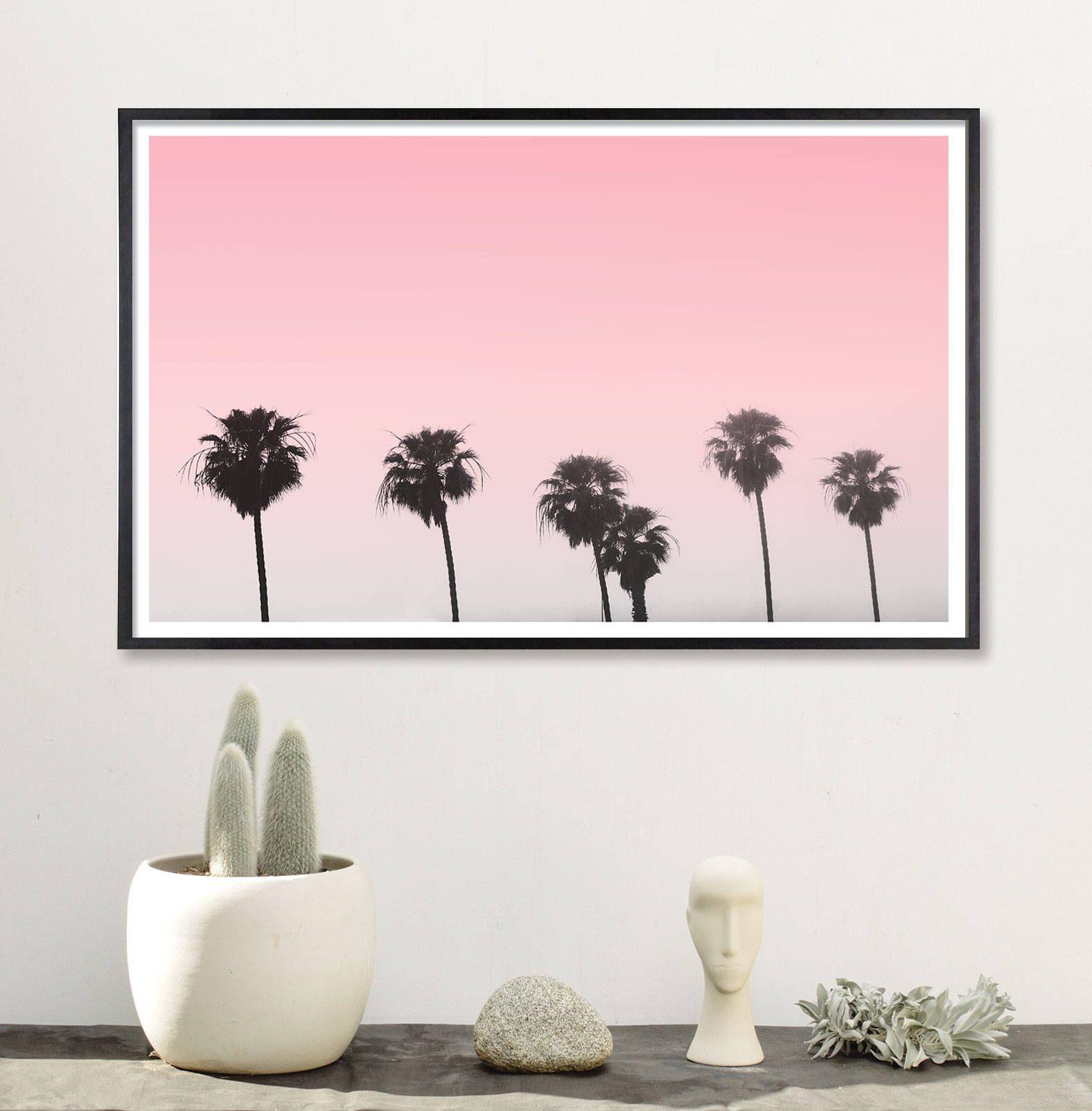 Palm Tree Art Bedroom Art teen room decor palm photography