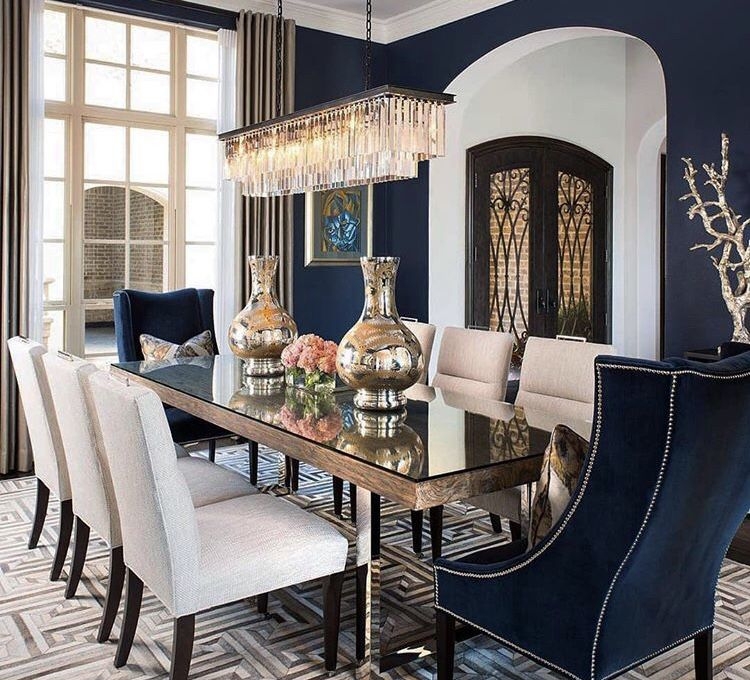 Decorate Your Dinning With These Lovely Christmas Chair: Pin By InspiringHomesByMinna On Blue & Gold Decor