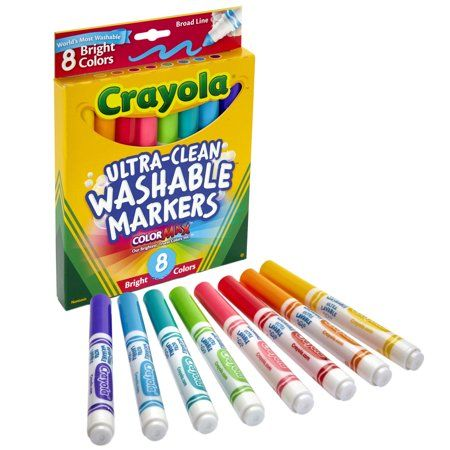 Crayola Ultra Clean Washable Markers Broad Line Bright