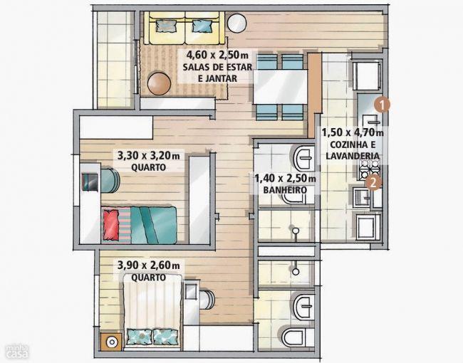 d corer et am nager un petit appartement de 3 pi ces house layouts small house plans and tiny. Black Bedroom Furniture Sets. Home Design Ideas