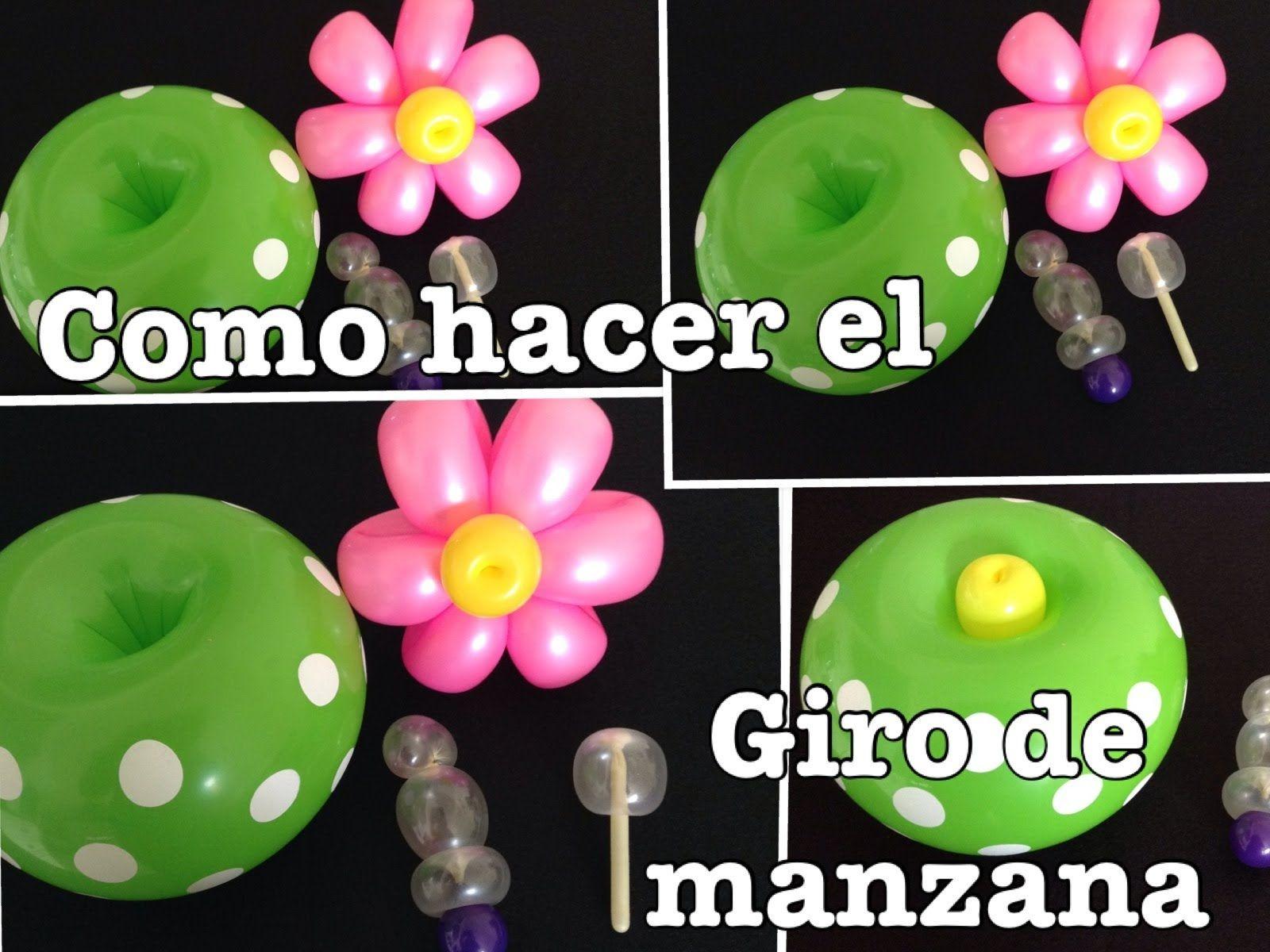 como hacer el giro de manzana en globos largos o redondos