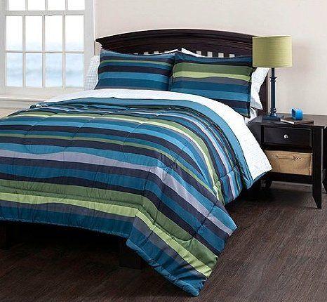 Beach Life Striped Twin Xl Comforter Sheet Set And Sham 5 Piece Bedding Set Boys Comforter Sets Bedding Sets Boys Bedding Sets