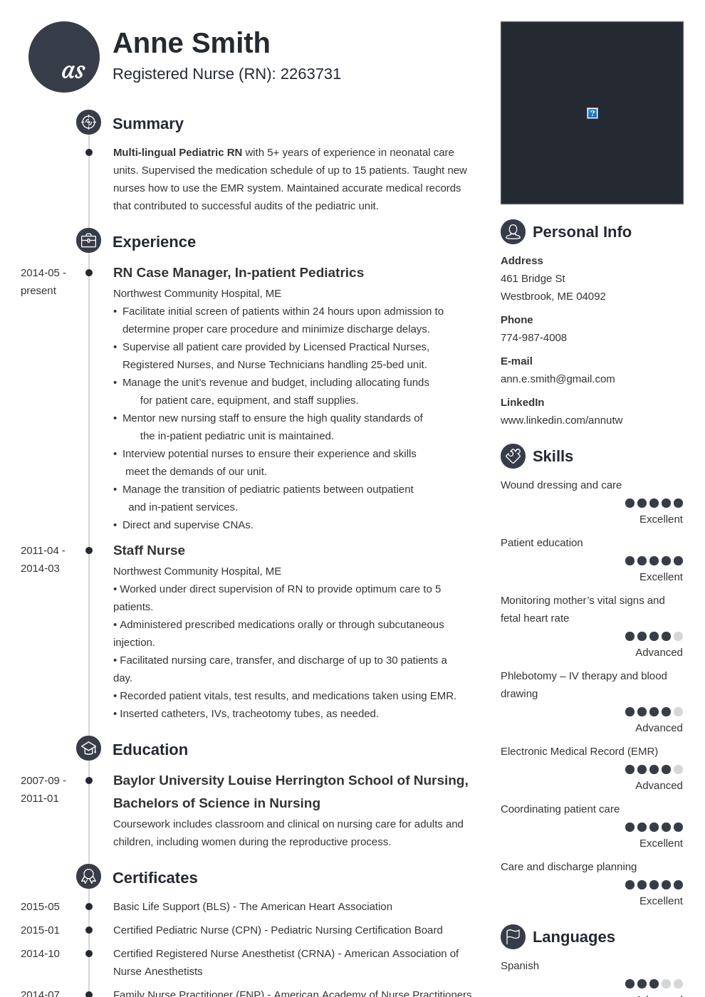 nursing resume examples template primo in 2020 Resume