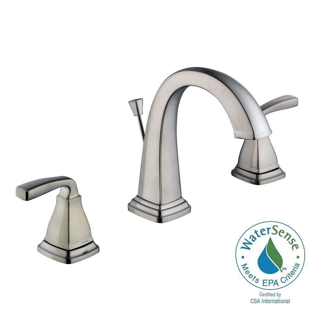 belle foret mason 8 in. widespread 2-handle high-arc bathroom