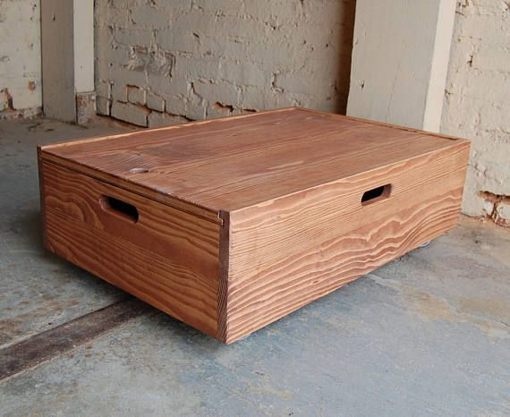 Under Bed Storage Rolling Crate Sliding Lid Box