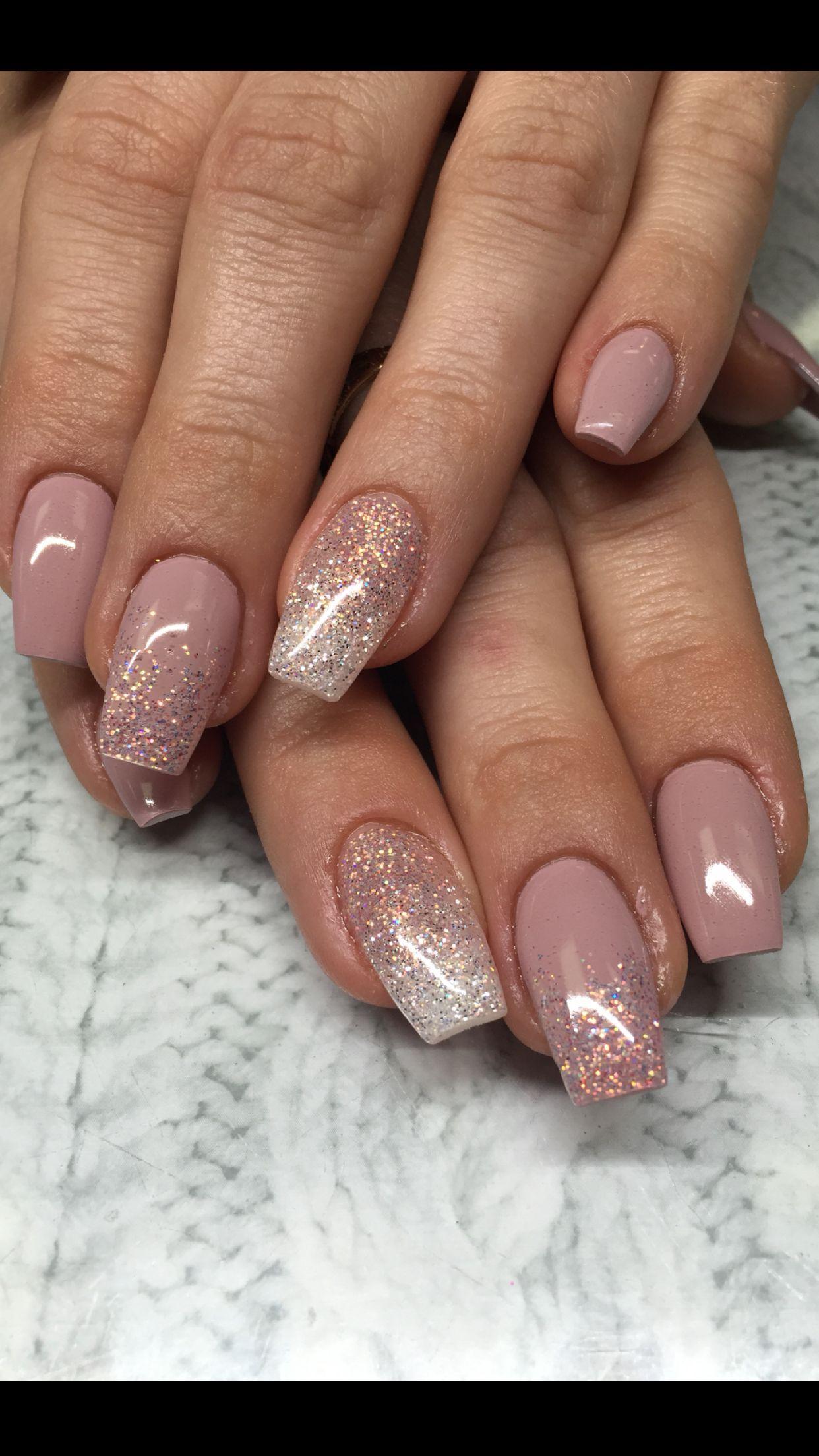 Hard gel nails ballerina coffin light elegance your churn with sweet ...