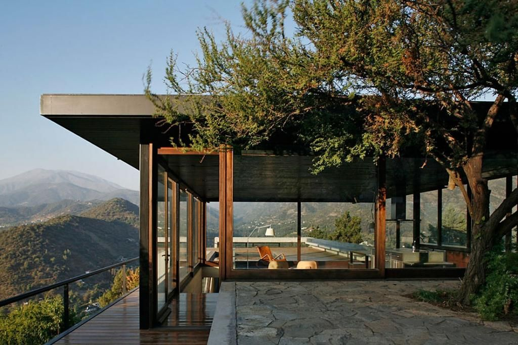 Modern Hillside Homes modern small home design in hillside with wood material interior