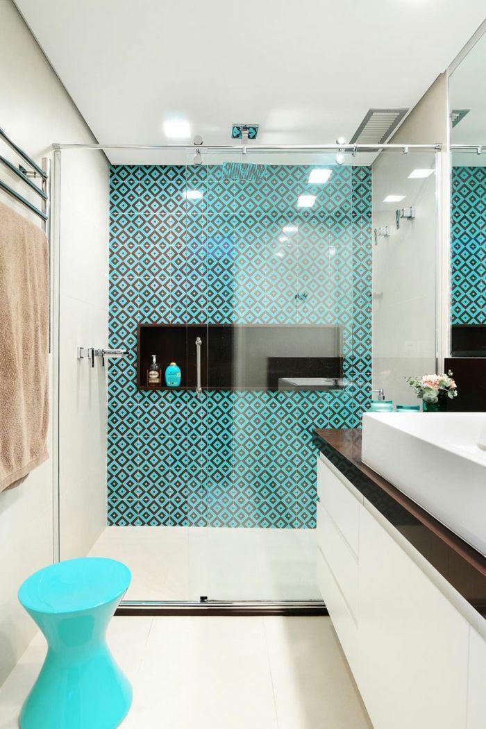 1001 Ideas De Decoracion Para Ba Os Peque Os Con Ducha Ba Os Bathroom Floor Tiles