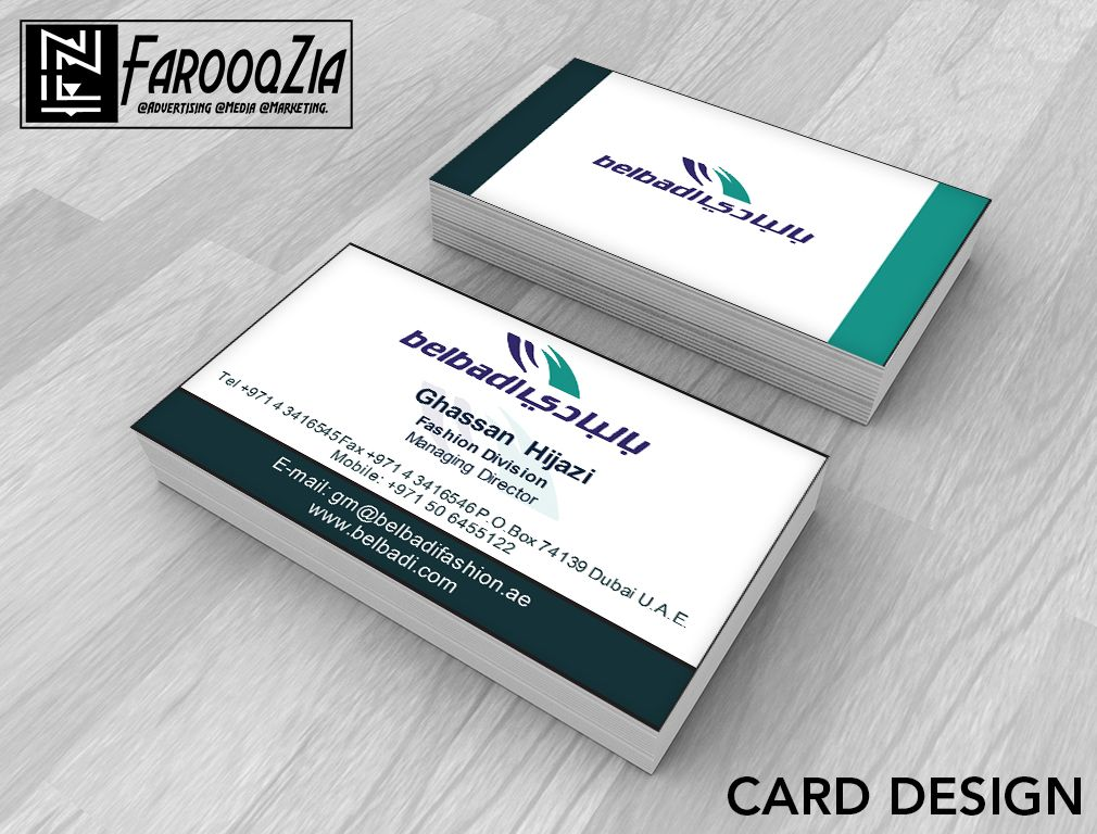 Client : Belbadi Fashion | Business Card Mock up Design ...