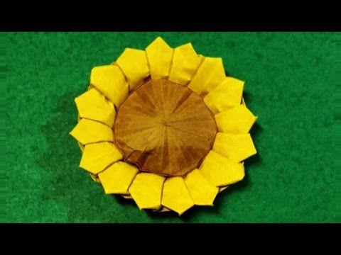 Original Origami Sunflower
