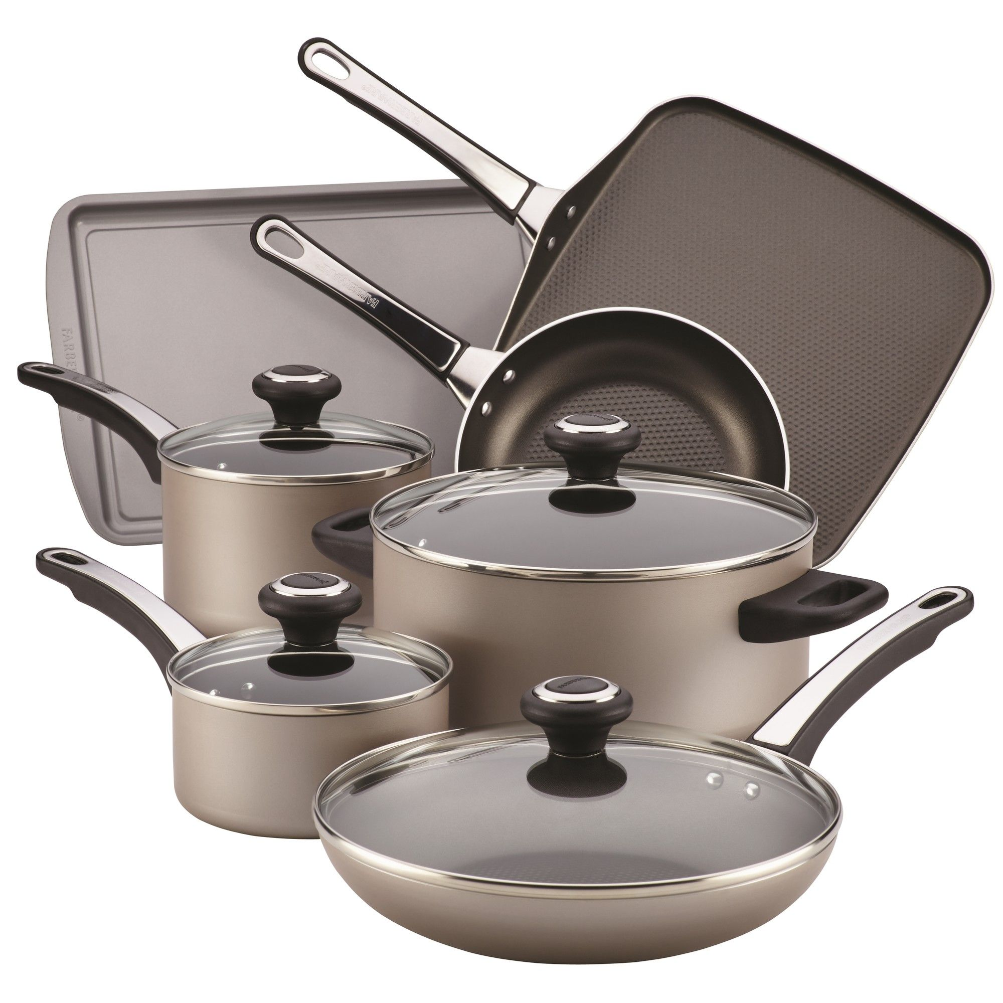 17 Piece Nonstick Cookware Set By Farberware Products In 2018