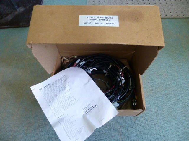 wire harness box vw volkswagen beetle wh 292 wiring harness w box instructions see wire harness board accessories vw volkswagen beetle wh 292 wiring