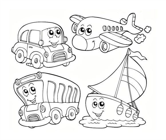Hot Air Balloon Vorschule Färbung Seiten Transport... 5367 | Вышивка ...