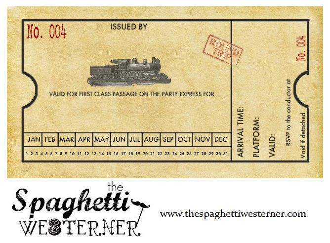 Free printable customizable train invitation for birthday – Tickets Template Free Download