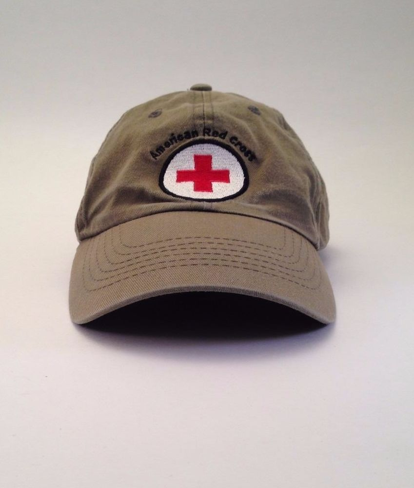 1665e408839 American Red Cross Olive Green Cap Hat One Size