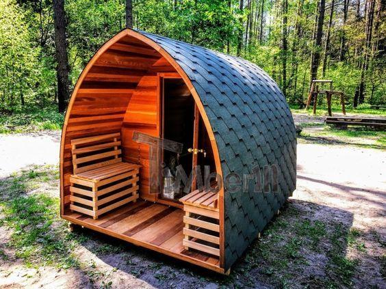 Aussensauna Modern fasssauna aussensauna gartensauna saunafass mit vorraum und