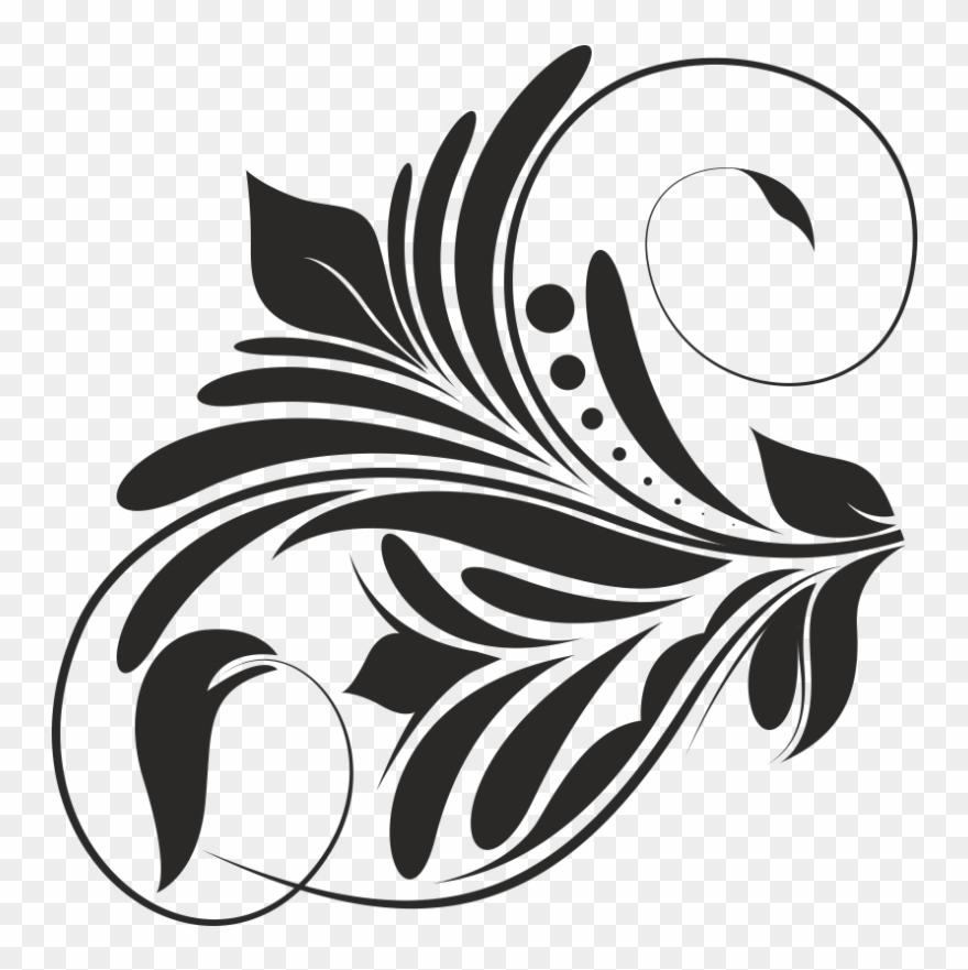 Design Black White Png Clipart Clip Art Swirl Design Simple Graphic