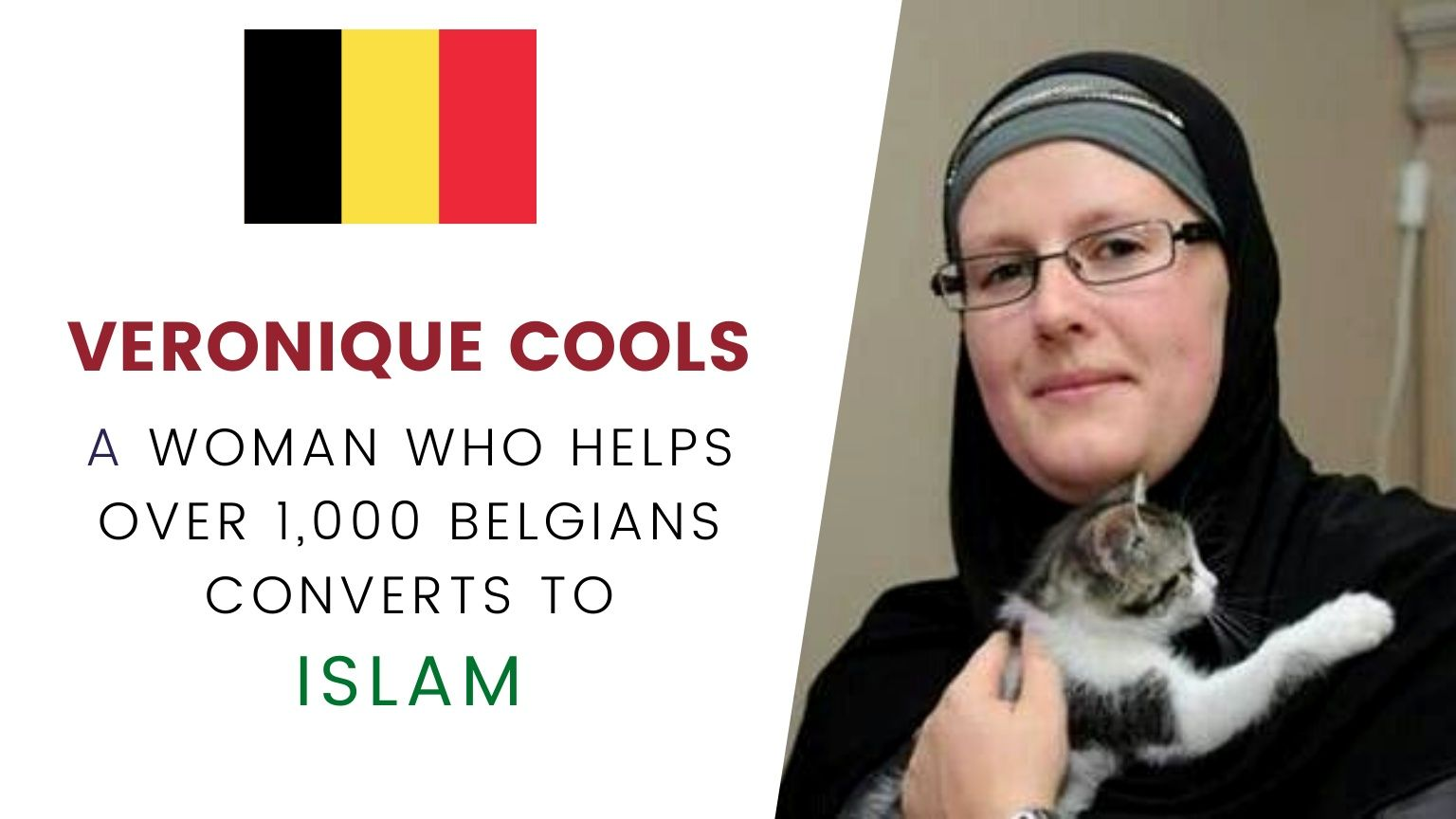 🇧🇪 Veronique Cools 🧕 | A Woman who helps over 1,000 Belgians converts to Islam ☪️