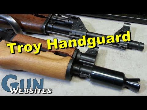 Troy AK Lower Handguard on Yugo AK - YouTube Explaination of