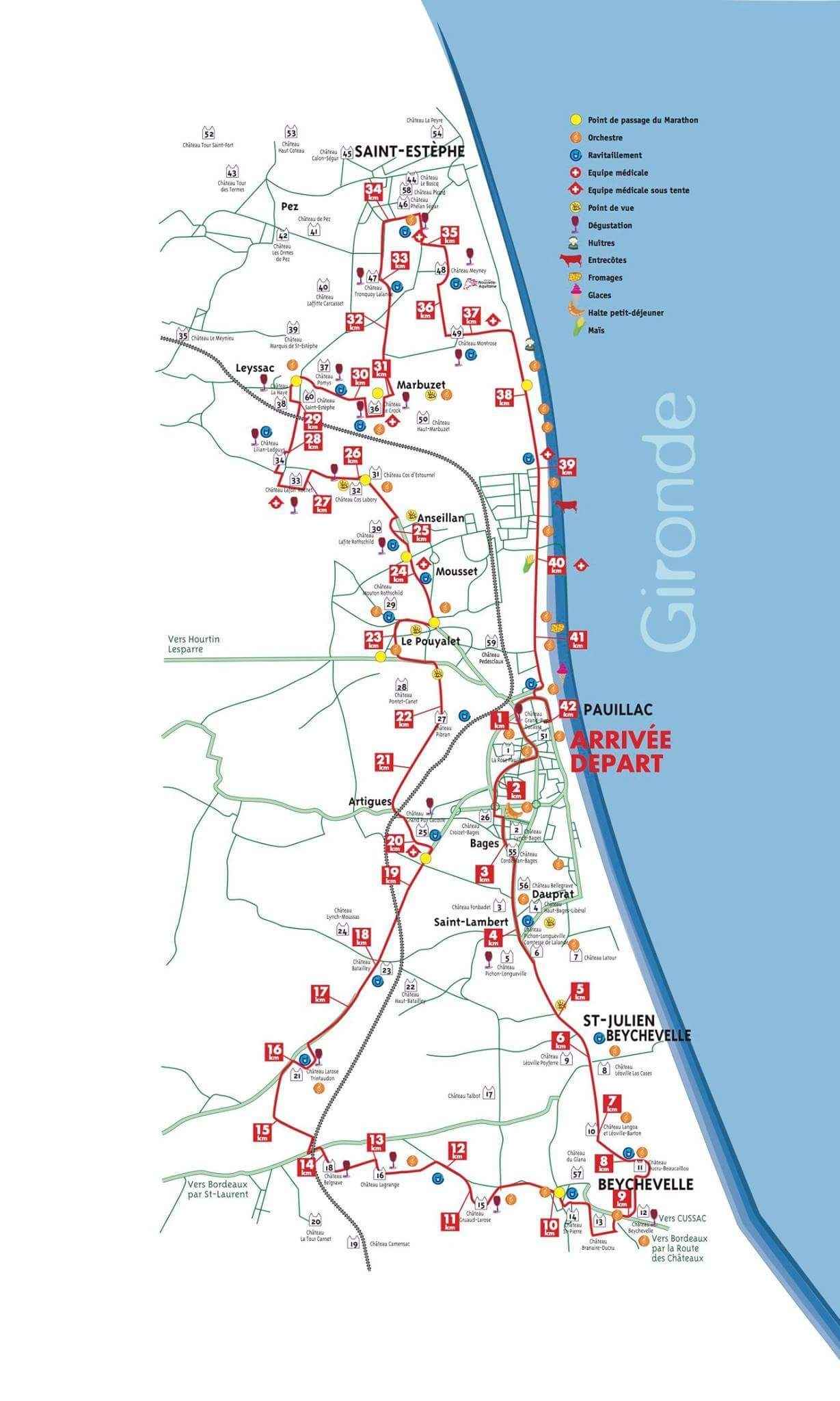 Marathon Du Medoc 2017 Course
