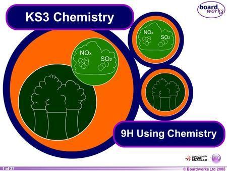 © Boardworks Ltd 2004 1 of 20 © Boardworks Ltd 2005 1 of 37 KS3 Chemistry 9H Using Chemistry.