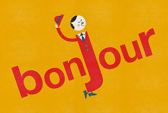 bonjour by Blanca (via illustrated gents)