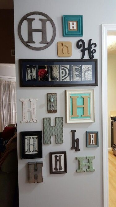 Letter H Wall Decor Stair Wall Decor Decor Wall Decor Living