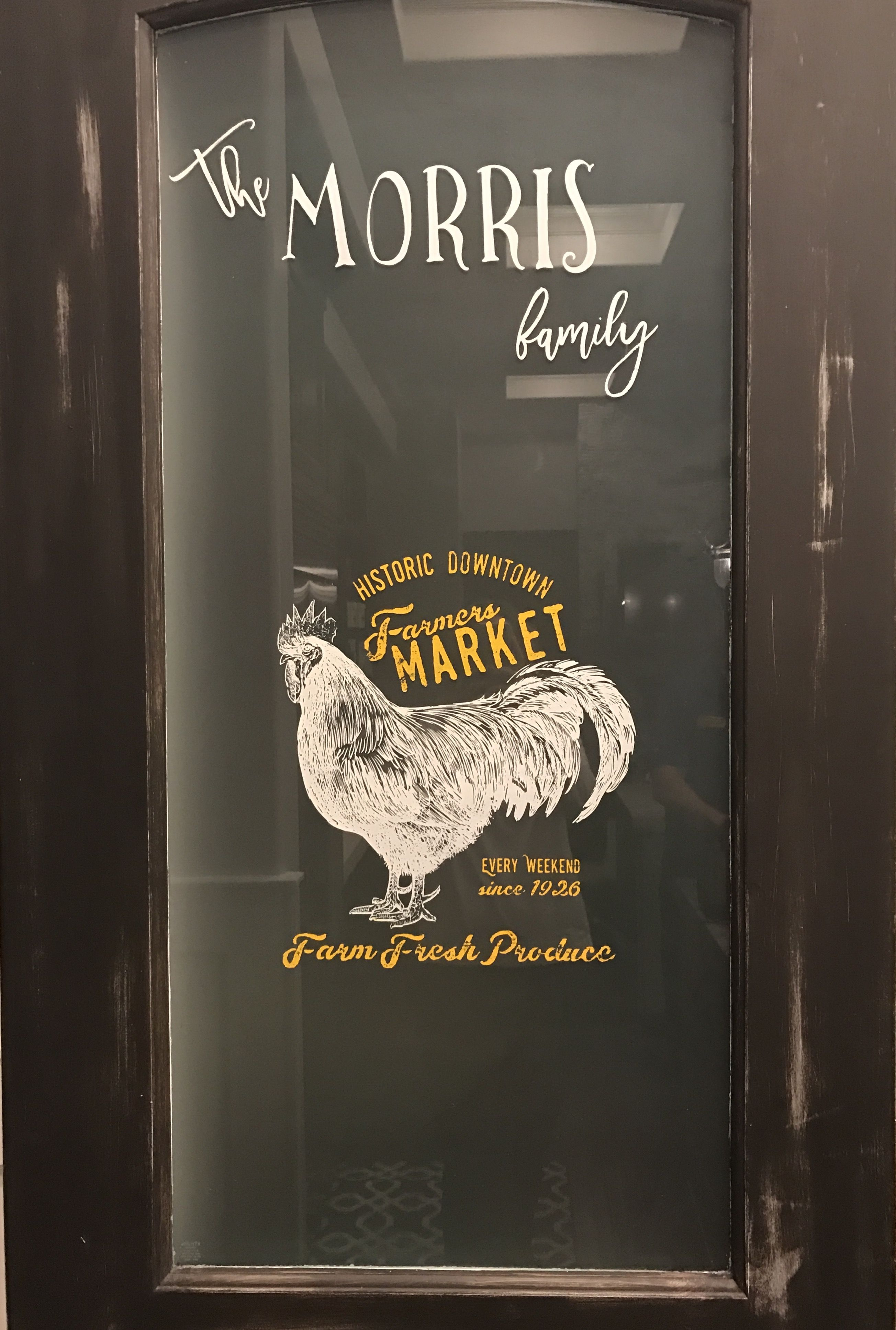 Chalk couture can even dress up a pantry door look how cute our