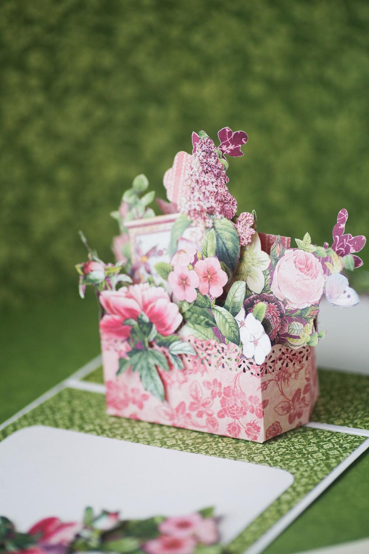 flower box popup 3d card stepstep tutorialvera