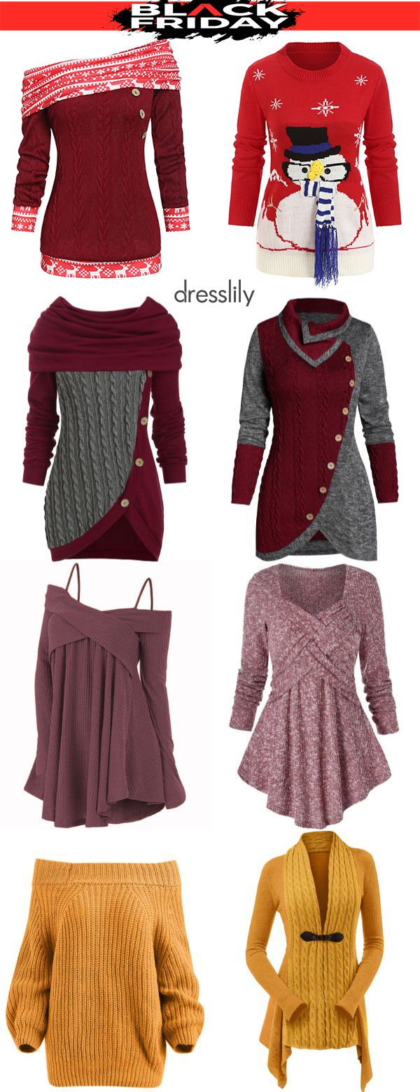 [55% off]Christmas Clothes | Women's Christmas Sweaters #womenschristmasoutfits