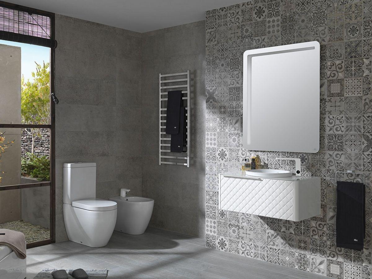 Gestucte Muur Badkamer : Patchwork tegels blijven geweldig prachtige badkamer met