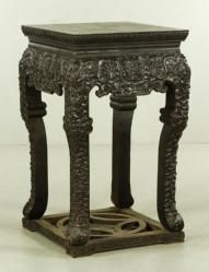 CHINESE ZITAN STAND Asian Art & Antiques Auction | Official Kaminski Auctions