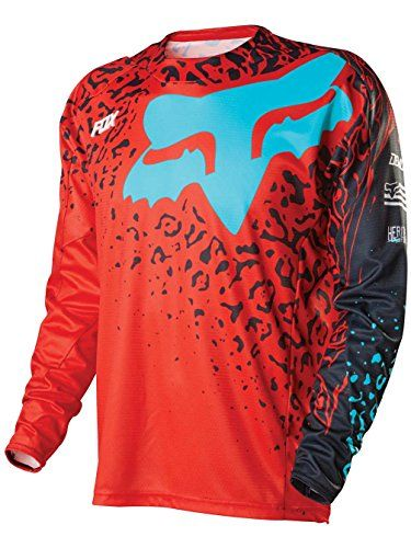 Fox Racing Demo Cauz Mens OffRoad Motorcycle Jerseys  Red  Large *** You can get more details by clicking on the image.Note:It is affiliate link to Amazon.