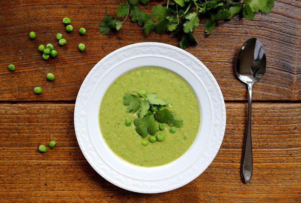 Leichte Vegane Sommerküche : Vegane erbsen koriander suppe vegane leichte