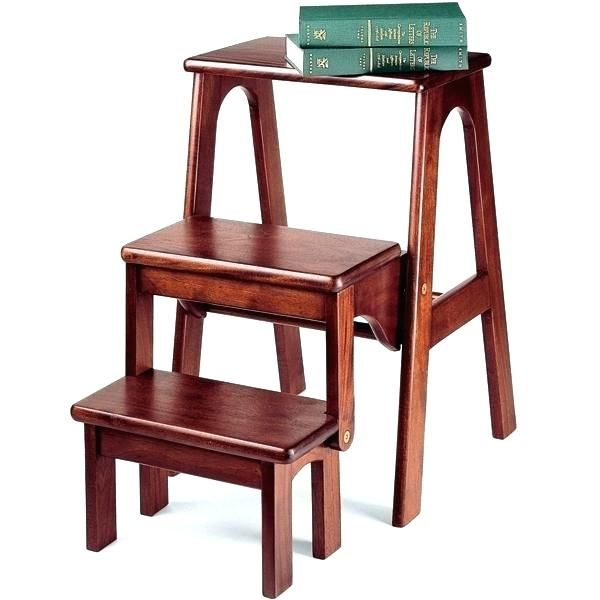 ergonomic folding step chair stupendous step chair stool design folding library steps combo wood step stool  sc 1 st  Pinterest : step chair plans - Cheerinfomania.Com