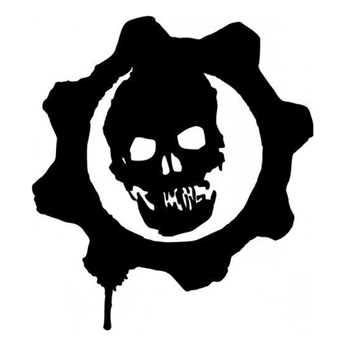 Skull laptop car truck vinyl decal window sticker pv467