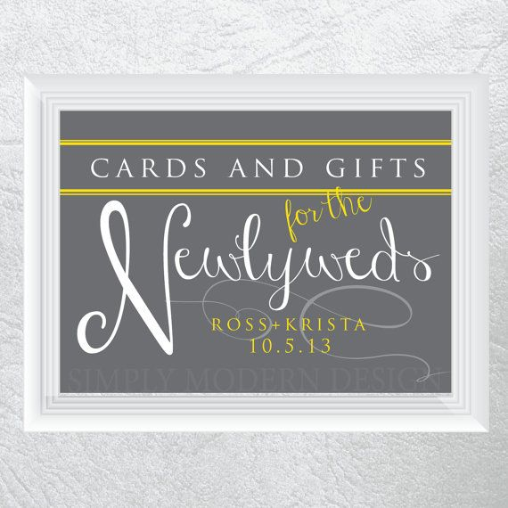 Wedding Gift Table: Cards And Gifts Table Sign PRINTABLE By