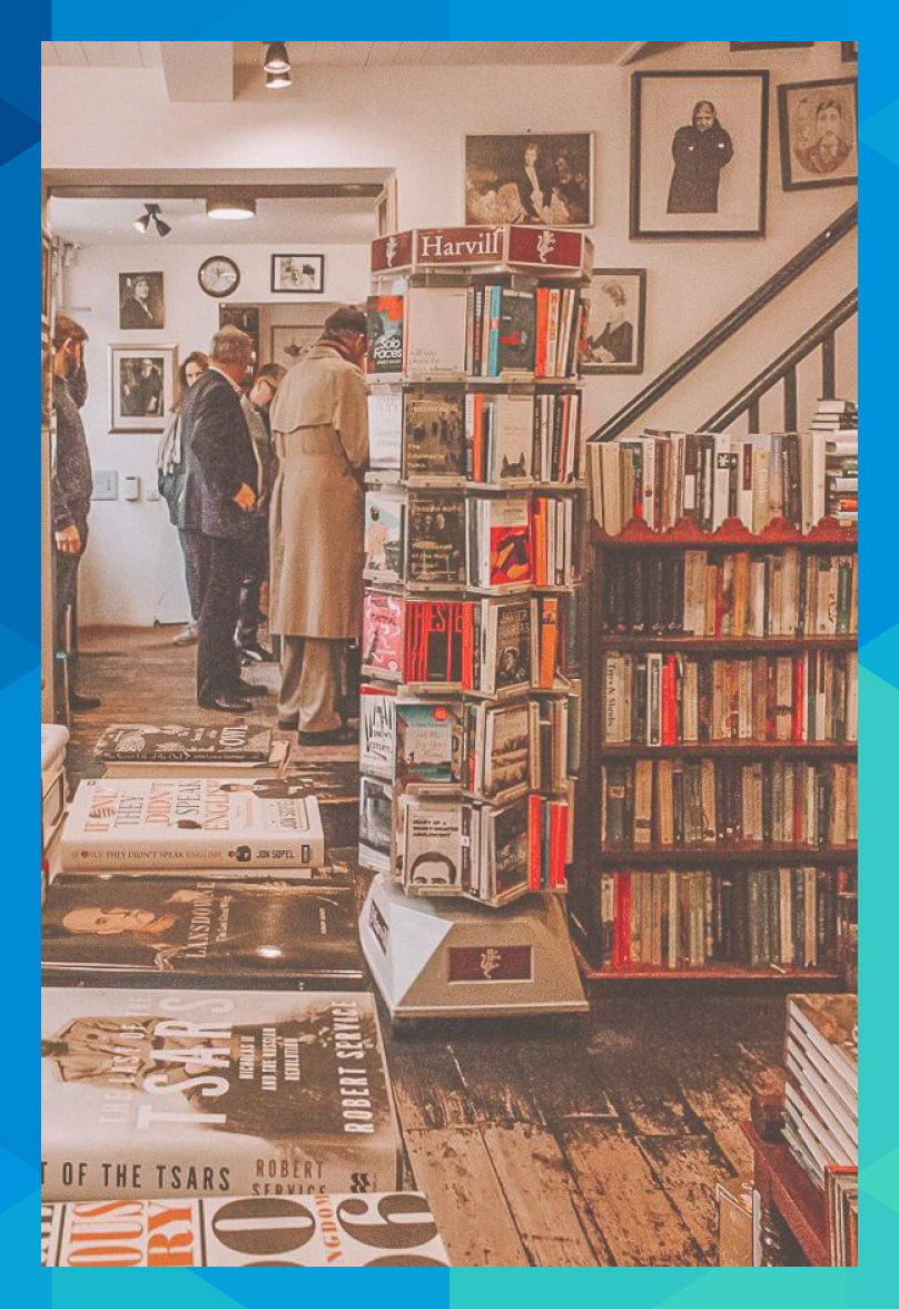 John Sandoe Books. These are 15 of the most beautiful bookshops in London. London is home to some of the most beautiful bookshops in the world. These are all independent bookshops in London and they stock a variety of old and new, fiction and non-fiction etc. Perfect for bookworms in London! #whatshotblog #bookshopporn #bookstagram #bookshops #travelLondon
