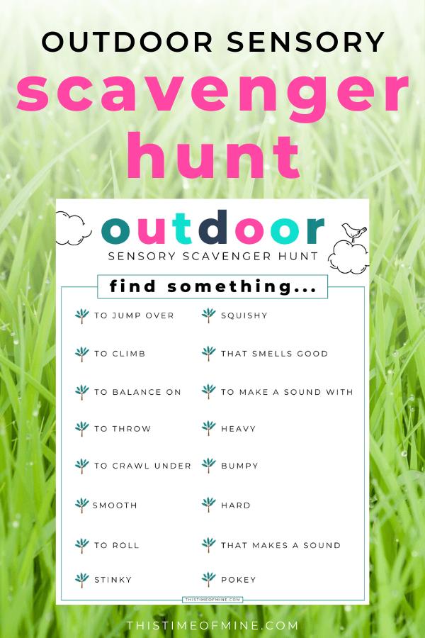 Fun Outdoor Sensory Scavenger Hunt For Kids (Free ...