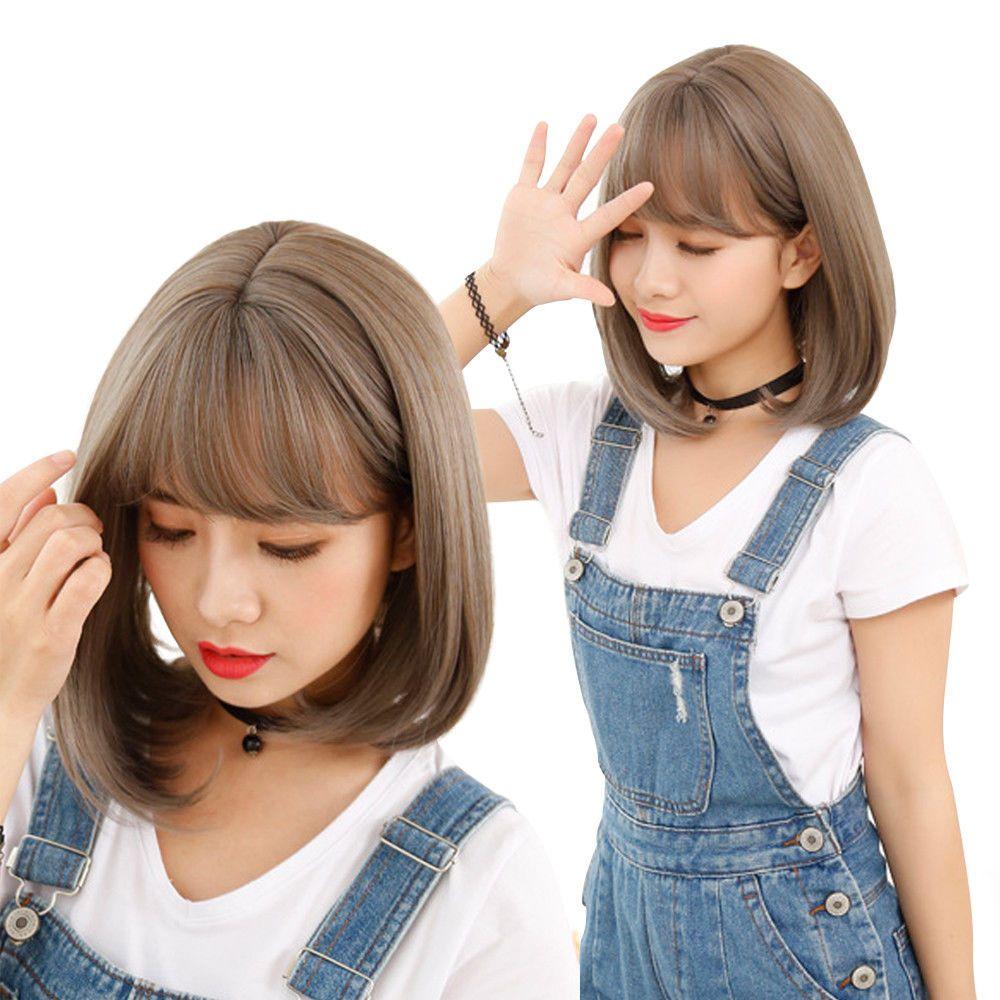 8.69AUD Fashion Short Straight Bob Hair Air Bangs Wigs