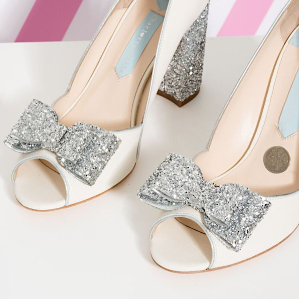 Charlotte Mills Becky Shoes With Silver Sixpence Wedding
