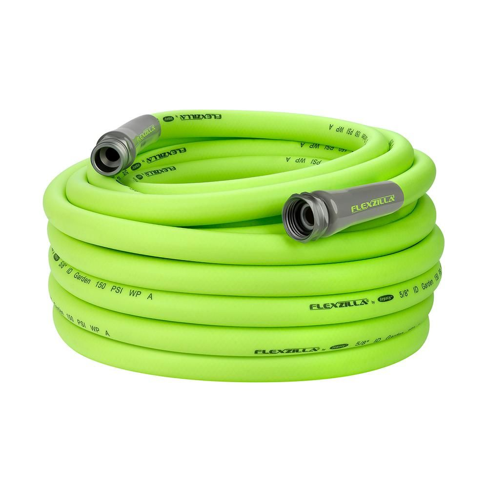 Flexzilla 5 8 In X 75 Ft Garden Hose With 3 4 In Ght Fittings Garden Hose Drinking Water Sprinkler Hose