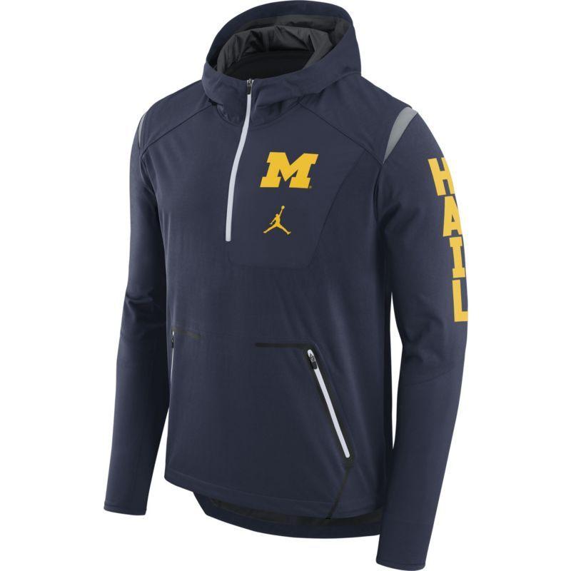 uk availability afcc1 fa956 Jordan Men's Michigan Wolverines Blue Alpha Fly Football ...