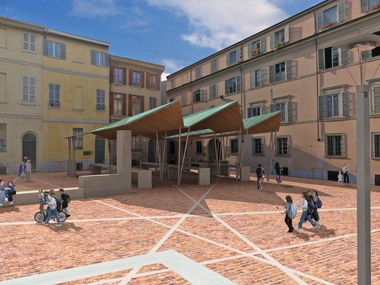 Piazza Sant'Antonino - segnalazione 2, Piacenza, 2006 - Studio di Architettura Luca Scacchetti, Luca Scacchetti